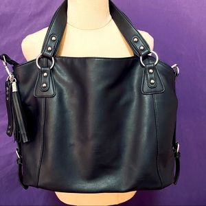 Sourpuss Black Pleather Tote Bag
